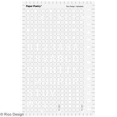 Pochoir d'écriture pour bullet journal Rico Design - Lettres - 9,5 x 15 cm