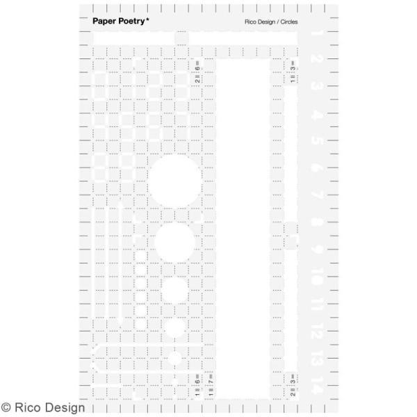 Pochoir d'écriture pour bullet journal Rico Design - Base - 9,5 x 15 cm - Photo n°1