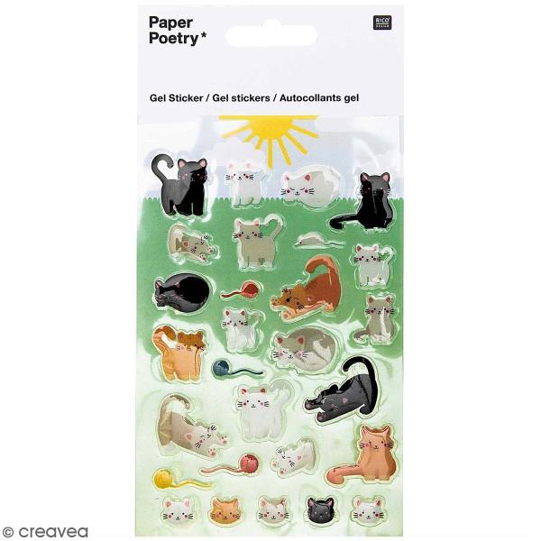 Stickers gel Rico Design - Chats - 29 pcs - Photo n°1