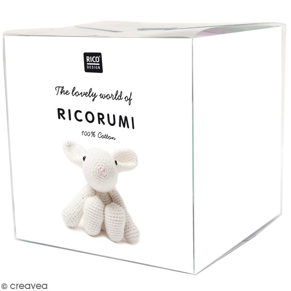 Kit crochet Ricorumi puppies - Lapin gris - Photo n°1