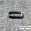 10 Passant rectangulaire acier nickelé 25 mm
