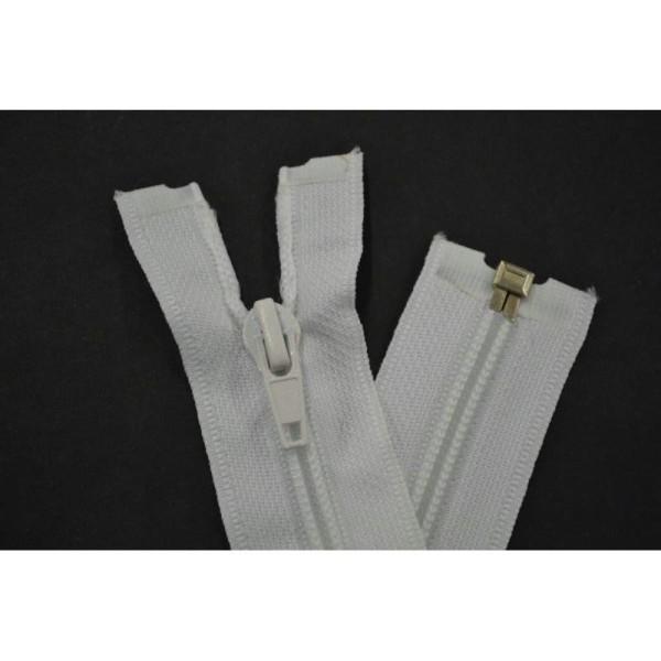 Fermeture nylon maille 6mm séparable blanc  10cm - Photo n°2