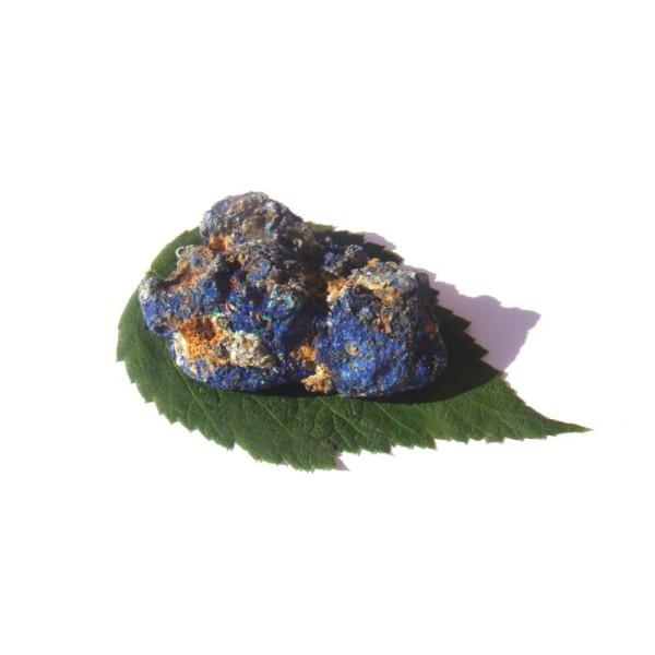 Pierre brute Azurite cristallisé grade A 4.8 CM x 3.7 CM x 2 CM de hauteur max - Photo n°5