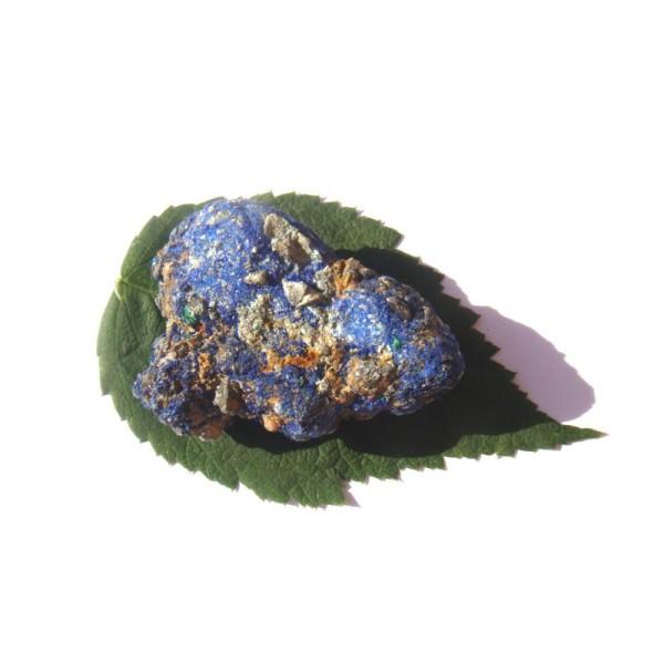 Pierre brute Azurite cristallisé grade A 4.8 CM x 3.7 CM x 2 CM de hauteur max - Photo n°1