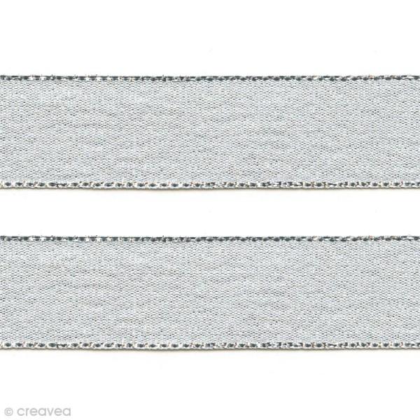 Ruban Liseré - Argenté - 12 mm - Au mètre (sur mesure) - Photo n°1