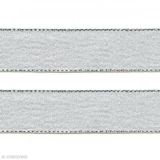 Ruban Liseré - Argenté - 12 mm - Au mètre (sur mesure)