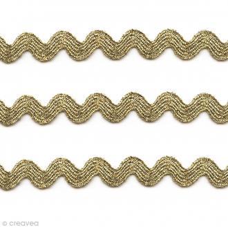 Ruban Serpentine - Doré - 10 mm - Au mètre (sur mesure)