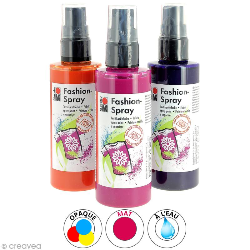 peinture textile fashion spray 100 ml peinture tissu. Black Bedroom Furniture Sets. Home Design Ideas