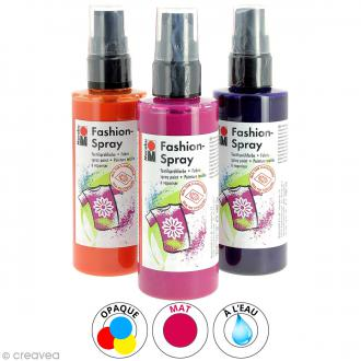 peinture textile spray acheter peinture tissu a rosol au meilleur prix creavea. Black Bedroom Furniture Sets. Home Design Ideas