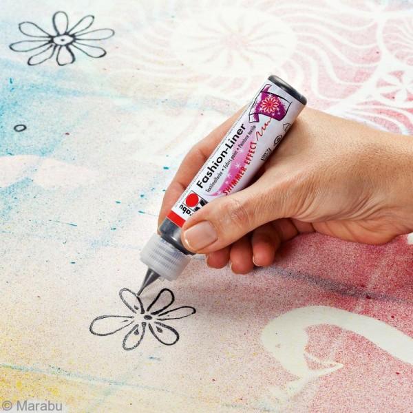 Liner peinture textile - Fashion Liner - 25 ml - Photo n°3