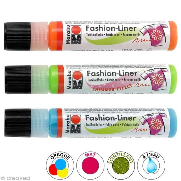 Liner peinture textile - Fashion Liner - 25 ml - Photo n°1
