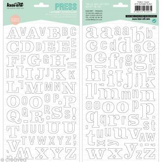 Alphabet autocollant Kesi'Art - Blanc - 2 planches 15 x 32 cm