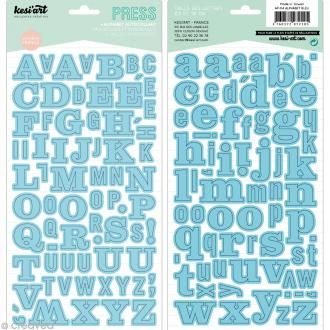 Alphabet autocollant Kesi'Art - Bleu - 2 planches 15 x 32 cm