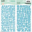 Alphabet autocollant Kesi'Art - Bleu - 2 planches 15 x 32 cm - Photo n°1