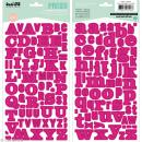 Alphabet autocollant Kesi'Art - Rose fuchsia - 2 planches 15 x 32 cm - Photo n°1