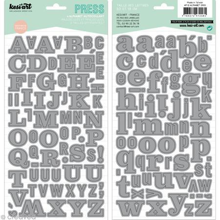 Alphabet autocollant Kesi'Art - Gris - 2 planches 15 x 32 cm - Photo n°1