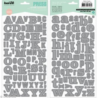 Alphabet autocollant Kesi'Art - Gris - 2 planches 15 x 32 cm