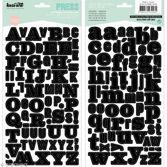 Alphabet autocollant Kesi'Art - Noir - 2 planches 15 x 32 cm