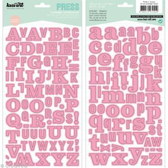 Alphabet autocollant Kesi'Art - Rose - 2 planches 15 x 32 cm