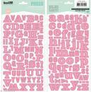 Alphabet autocollant Kesi'Art - Rose - 2 planches 15 x 32 cm - Photo n°1