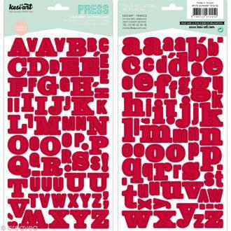 Alphabet autocollant Kesi'Art - Rouge - 2 planches 15 x 32 cm
