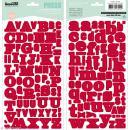 Alphabet autocollant Kesi'Art - Rouge - 2 planches 15 x 32 cm - Photo n°1