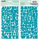 Alphabet autocollant Kesi'Art - Bleu turquoise - 2 planches 15 x 32 cm - Photo n°1
