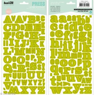 Alphabet autocollant Kesi'Art - Vert - 2 planches 15 x 32 cm