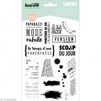 Tampon clear Kesi'Art - Edito - Planche 12,5 x 18,5 cm