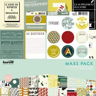 Papier scrapbooking Kesi'Art - Edito - 30 x 30 cm - 9 feuilles