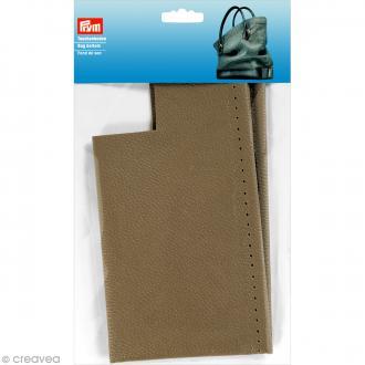 Fond de sac en Simili cuir Caroline - Gris taupe - 32 x 12 x 6 cm