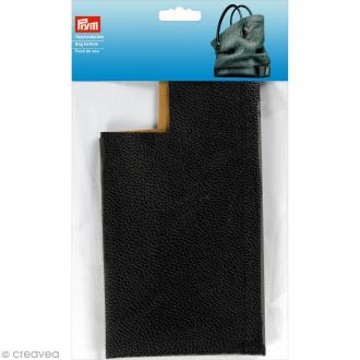 Fond de sac en Simili cuir Caroline - Noir - 32 x 12 x 6 cm