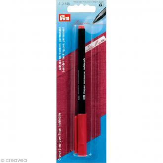 Crayon marqueur textile indélébile - Rouge
