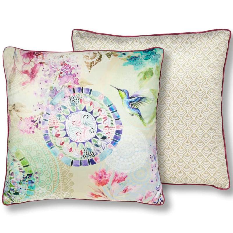 hip coussin d coratif 6107 h pallavi 48 x 48 cm multicolore coussins pour fauteuils et canap s. Black Bedroom Furniture Sets. Home Design Ideas