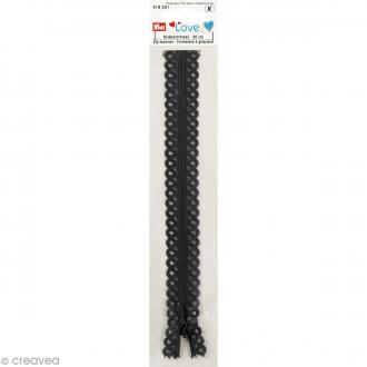 Fermeture éclair à dentelles Prym Love - Gris graphite - 20 cm