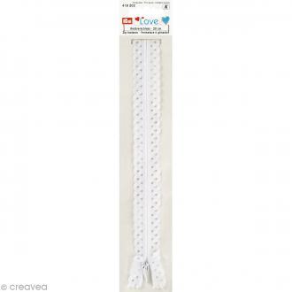 Fermeture éclair à dentelles Prym Love - Blanc - 20 cm