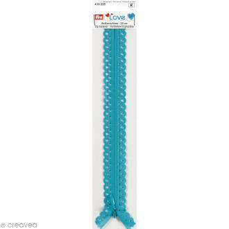 Fermeture éclair à dentelles Prym Love - Bleu turquoise - 20 cm