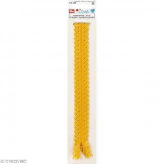 Fermeture éclair à dentelles Prym Love - Jaune - 20 cm