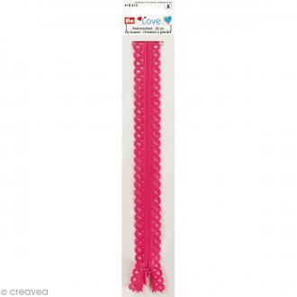 Fermeture éclair à dentelles Prym Love - Rose fuchsia - 20 cm