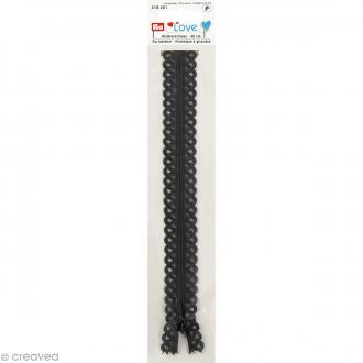 Fermeture éclair à dentelles Prym Love - Gris graphite - 40 cm