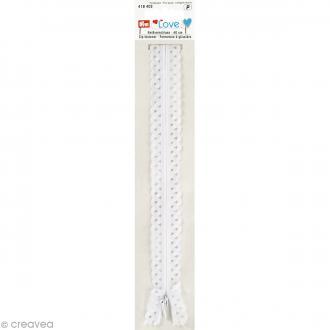 Fermeture éclair à dentelles Prym Love - Blanc - 40 cm