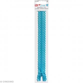 Fermeture éclair à dentelles Prym Love - Bleu turquoise - 40 cm