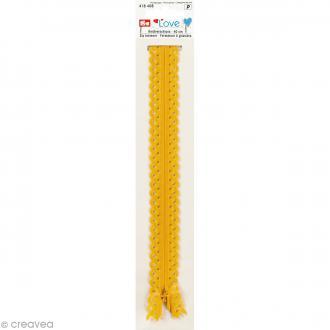Fermeture éclair à dentelles Prym Love - Jaune - 40 cm