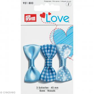 Noeuds Prym Love - Bleu - 45 mm - 3 pcs