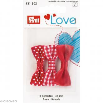 Noeuds Prym Love - Rouge - 45 mm - 3 pcs