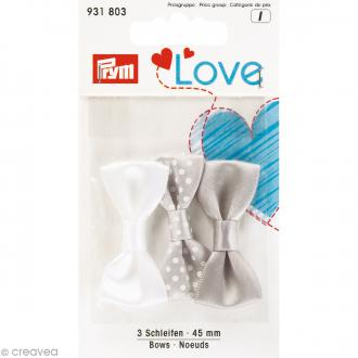 Noeuds Prym Love - Gris - 45 mm - 3 pcs