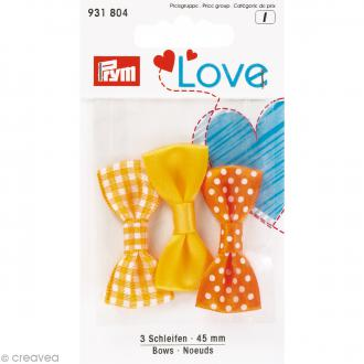 Noeuds Prym Love - Jaune - 45 mm - 3 pcs