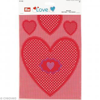 Tissu à rembourrer Coeur Prym Love - Rouge - 20 x 25 cm