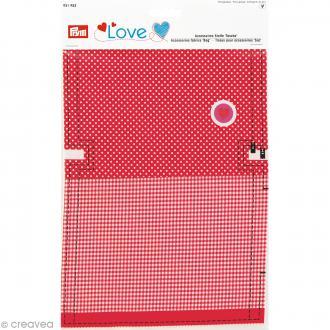 Tissus pour pochette Prym Love Coeur - Rouge
