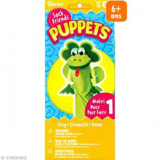 Kit marionnette à main à fabriquer - Sock friends Puppets - Grenouille